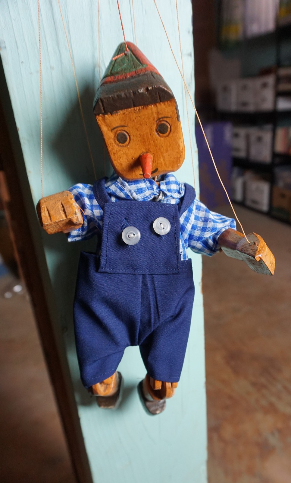 Primary image for Vintage Handmade Wooden  Marionette Pinocchio Puppet String