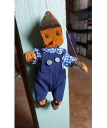 Vintage Handmade Wooden  Marionette Pinocchio Puppet String  - $51.04