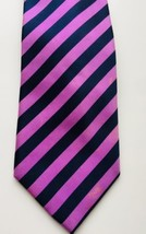 Van Heusen 100% Pure Silk Pink Striped Mens Tie - $7.10