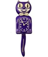 Limited Edition Ultra Violet Kit-Cat Klock Swarovski Crystals Jeweled Clock - $129.95