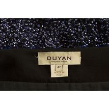 Duyan Midnight Blue Black Fully Sequined Knee Length Bow Dress size 42 It image 4