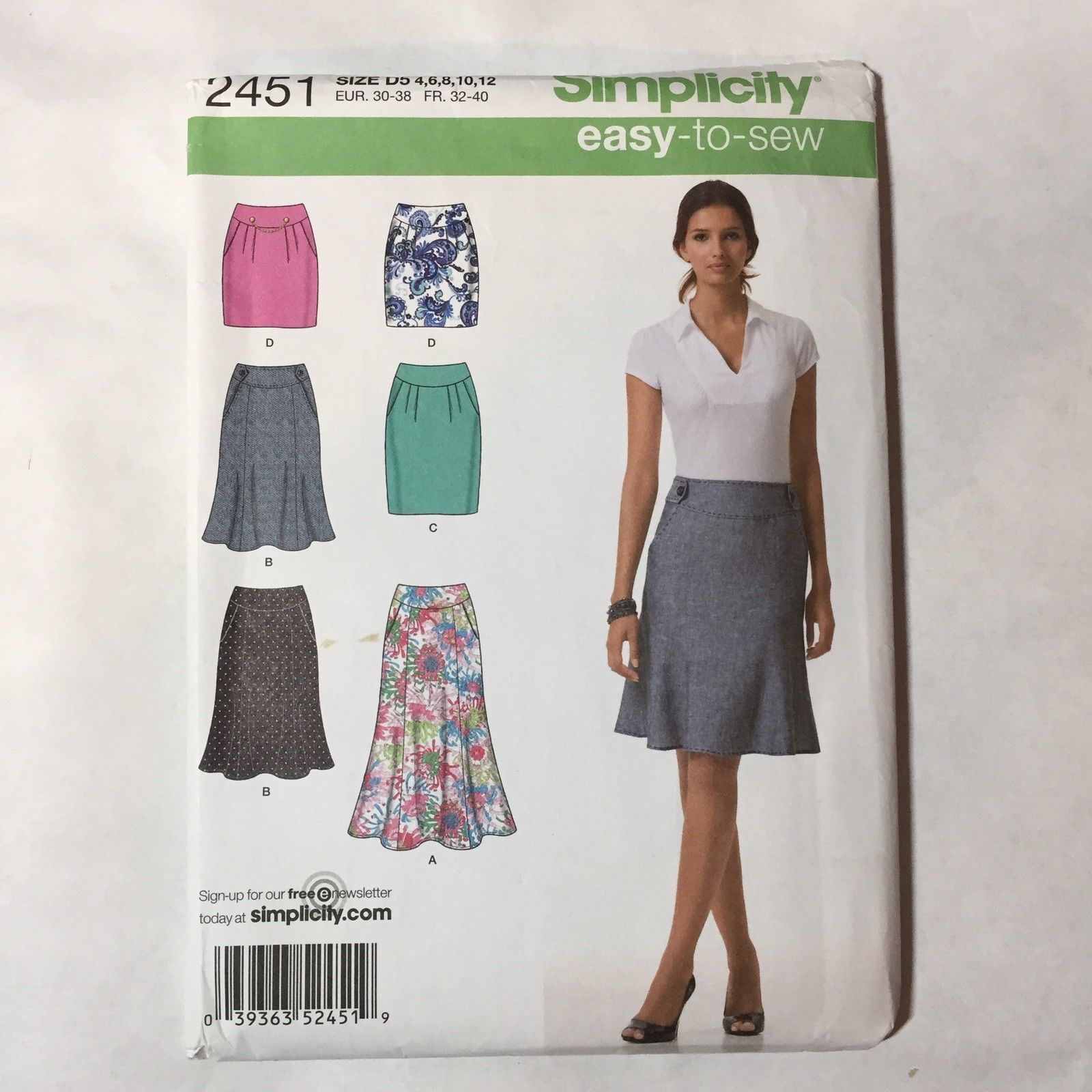 2943d690565f Simplicity 2451 Size 4-12 Misses Skirts in and 50 similar items