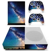 Xbox one S Slim Console Skin Vinyl Decals Stickers Starry Star Sky Nebula Galaxy - $11.80
