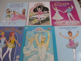 Ballet Paper Doll Book Lot Dance Pretty Ballerina Classical Music Vintage   - $50.09