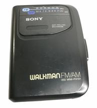 Vintage Sony Walkman WM-FX101 Cassette Player FM/AM Radio Parts or Repai... - $12.56