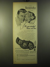 1950 Keepsake Rings Advertisement - Jonquil, Cameron and Eve - $14.99