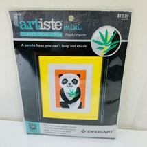 """Zweigart Artiste Mini Counted Cross Stitch Kit - Playful Panda 5"""" X 7"""" Free Ship - $13.99"""