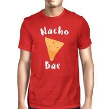 Nocho Bae Men's Red T-shirt Humorous Graphic Shirt Round Neck Tee - $14.99