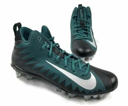 Nike Alpha Menace Pro Black & Green Football Cleats 915414-024 Size 14 - $38.00