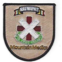 """4"""" Army 10TH Combat Support Medical Hospital Iraq Mountain Medics Patch - $23.74"""