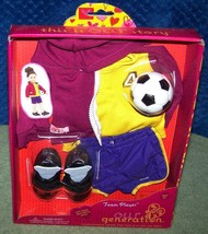 """Our Generation TEAM PLAYER Soccer Outfit for Most 18"""" Dolls New - $22.50"""