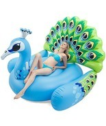 Joyin Toy Giant Inflatable Peacock Pool Float, Fun Beach Floaties, Swim ... - £47.76 GBP