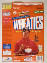 Empty Wheaties Cereal Box 1998 12oz Tiger Woods [G7E9d] - $4.78