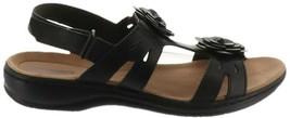 Clarks Leather Lightweight Sandals Flower Leisa Claytin Black 9W NEW A29... - €71,37 EUR