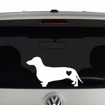 Dachshund Weiner Dog Heart Love  Vinyl Decal Sticker - $3.95+