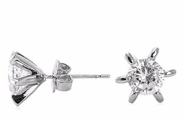 CZ Kenneth Jay Lane Starburst Round 3 cttw Stud Earrings KE513 NWT - $39.11