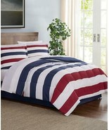 $100.00 Pem America Modern Stripe 8-Pc. Queen Comforter Set, Red/White/Blue - $28.71
