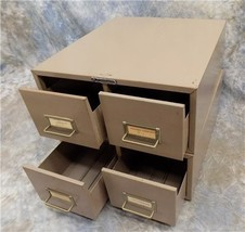 Steelmaster Hon 2 Drawer Card Catalog File Cabinet Metal Index Mid Centu... - $99.00