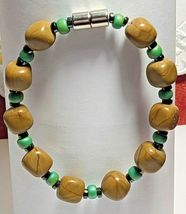 "Magnetic Hematite Bracelet 7 1/2"" Single Strand  (MAG-008) image 5"