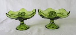 Vikling, Candlestick Holders, Epic 6 Six Petal, Avocado Green, #1422, ci... - $14.00