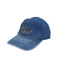 True Religion Men's Retro Script Logo Denim Baseball Cap Sports Strapback Hat image 2
