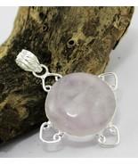 15 Gr. Rose Quartz Silver Overlay Handmade Pendant Jewelry-Oj-405-46 - $4.94