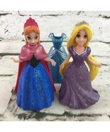 Disney Princess MagiClip Dolls Lot Of 2 Frozen Anna Rapunzel With Extra ... - $14.84