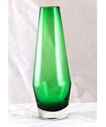 Green Aseda Art Glass 7 Inch Bud Vase Sweden - $23.22