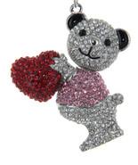 Big Rhinestone Bling Iced Out Key Chain Fob Purse Charm Teddy Bear With ... - $12.73
