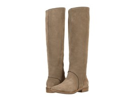 Women's UGG® Gracen Suede Block Heel Riding Boots, 1017344 Sizes 6-10 Mouse - $199.95