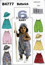 Butterick B4777 Infant Girls Sewing Pattern Dress Panties Hat Kids Baby ... - $8.25