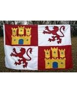 ALBATROS 2 ft x 3 ft Embroidered Lions and Castles Castile Lion Castil L... - $65.34