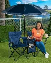2 Chairs Umbrella Cooler Blue Ball Games Patio ... - $59.01