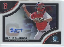 BLAKE SWIHART AUTOGRAPH RC 2015 Bowman Chrome Prime Position ROOKIE Red Sox - $4.49