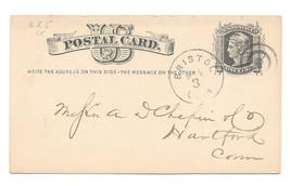 1879 UX5 Bristol Ct Fancy Target Bullseye Cancel Liberty Head Postal Card - $5.50