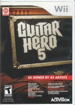Guitar Hero 5 (Nintendo Wii, 2009) Complete w/Manual -Tested - Free Ship - $27.72
