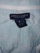 American Eagle Outfitters Ladies Ls Thin Cotton Button SHIRT-8-GENTLY WORN-GREAT - $11.99