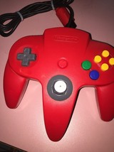 Authentic OEM Nintendo 64 N64 RED Controller With Tight Joystick - $29.70