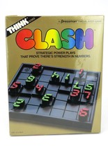 Vintage 1986 Think Series CLASH Strategy Board Game 2 Player (Brand New/... - $13.45