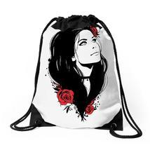 Girl Roses Drawstring Bags - $30.00