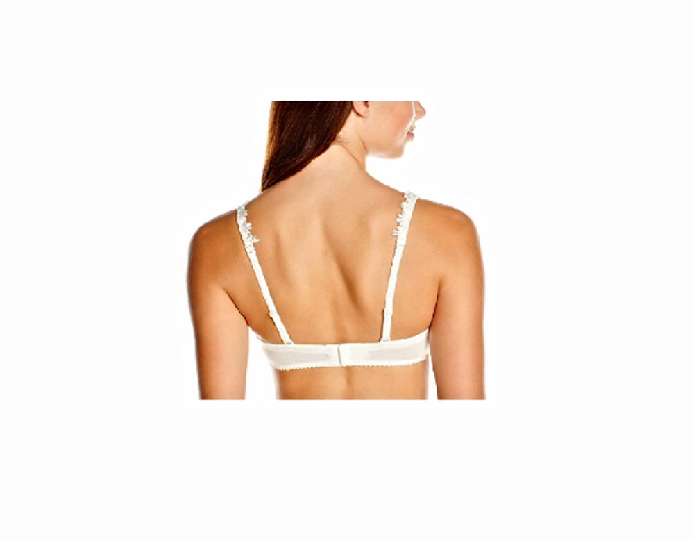 Amoena Lea Underwire Pocketed Padded Convertible Lace Straps Bra 0732 Ivory