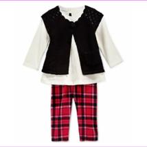 First Impressions Baby Girls' 3-Piece Shrug,Tunic&Plaid Leggings,Size 18 M,.. - $8.86