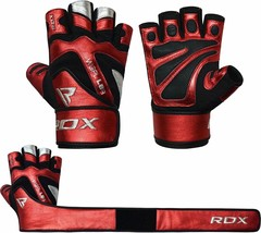 RDX MMA Kick Boxing GYM PAPER LEATHER GLOVES RED COLOR TOP QUALITY GREAT... - $79.00