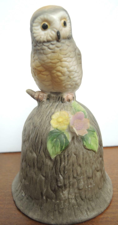 Three Vintage Ceramic Owl Bells