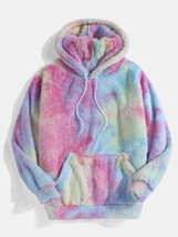 Multi-Color Tie-Dye Plush Hoodie - $47.49