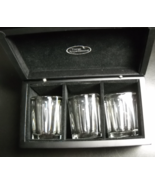 Things Remembered Wood Box Shot Glass Set of Three Square Style Double Size - $10.99