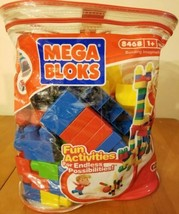 Mega Blocks Building Imagination bag 78 Pcs # 8468 Creative Colors Basic... - $13.55