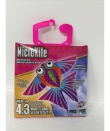 MicroKite Mini Mylar Kite Tropical Fish Colorful 4.3 Inch Includes Handl... - $8.99