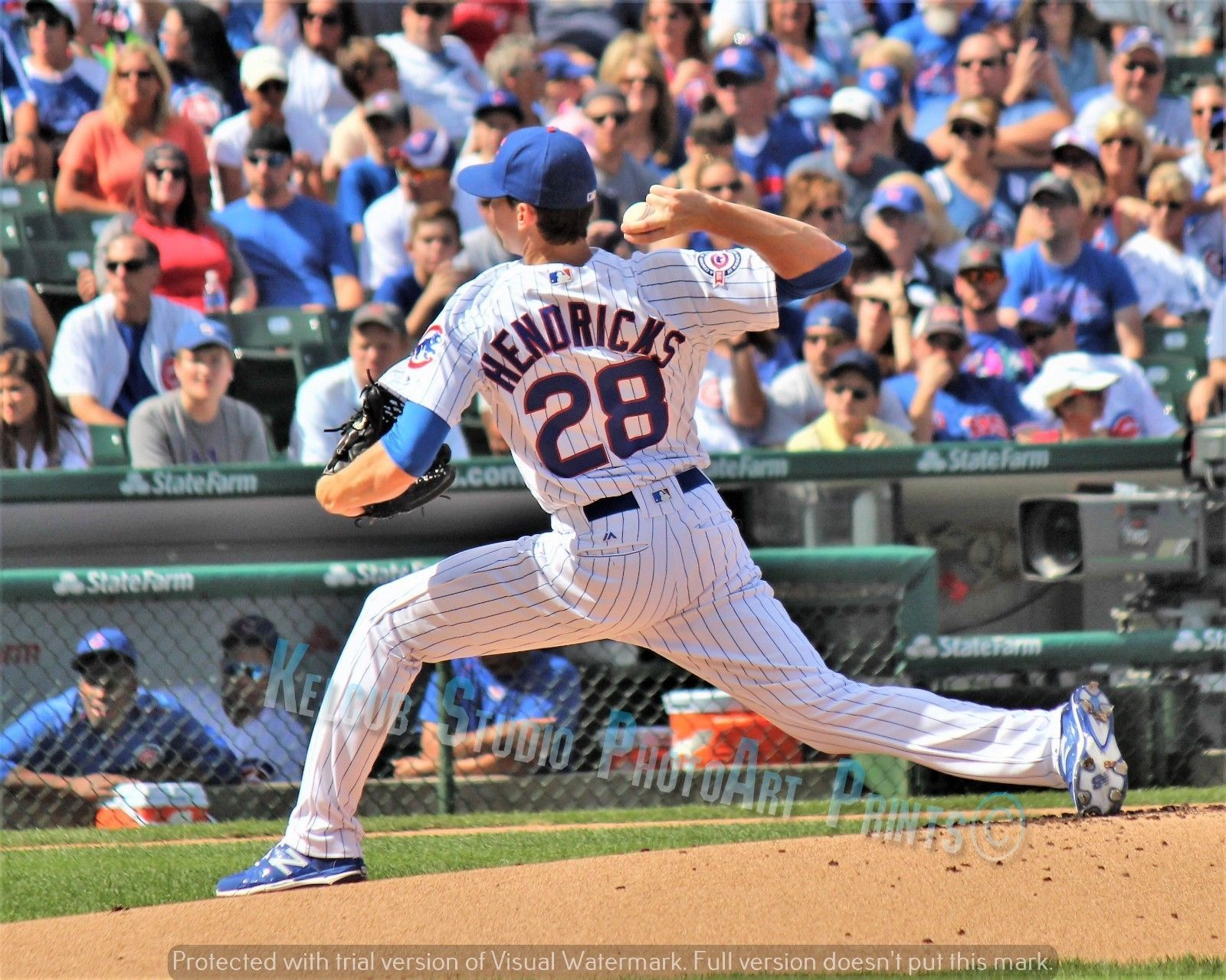 Primary image for Professor Chicago Cubs Kyle Hendricks Pitcher Original Game Pic Dartmouth NEW