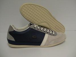 Lacoste Misano 28 Men's Shoes casual Leather/suede/Textile grey/Blue size 10 us - $128.65